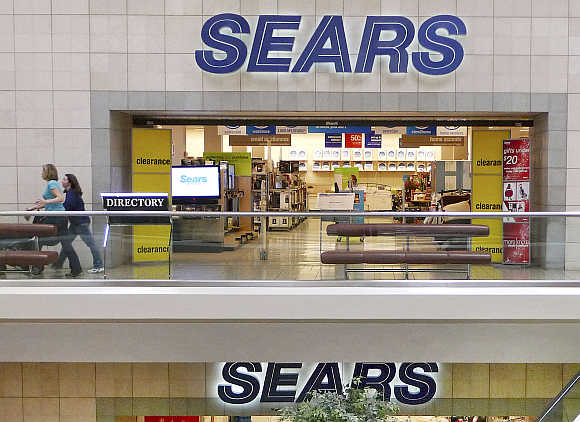 Sears department store at Fair Oaks Mall in Fairfax, Virginia.