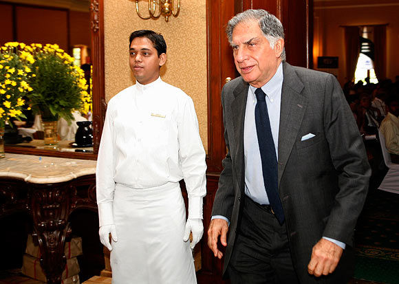 Ratan Tata at aTata Tea annual general meeting in Kolkata.