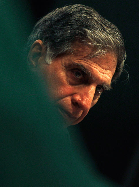 Ratan Tata at a Tata Motors annual general meeting.