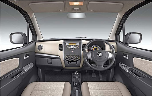 Interior of Maruti WagonR.