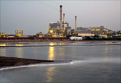 Tata Chemicals plant.