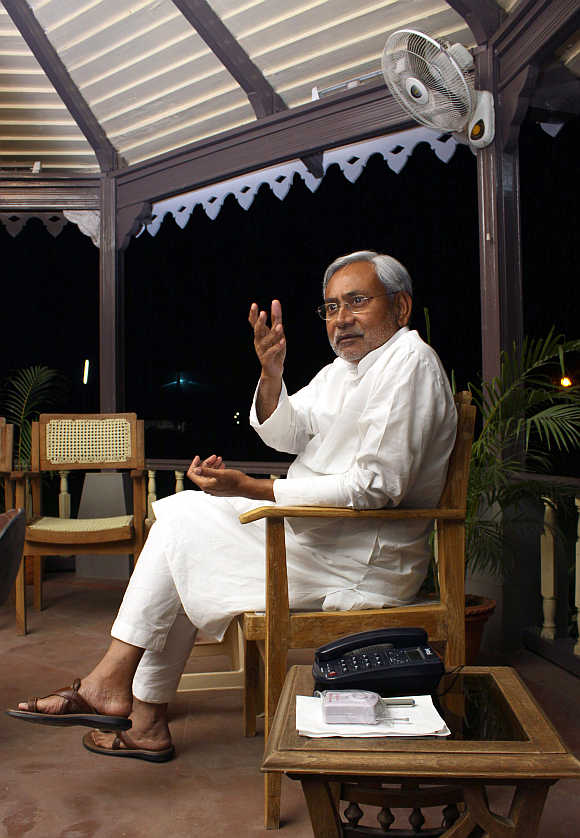 Bihar's Chief Minister Nitish Kumar in Patna.