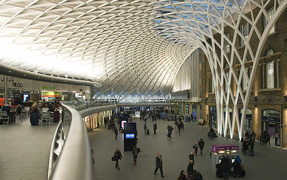 King's Cross Station in London.