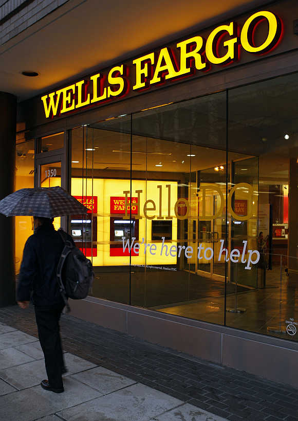 A Wells Fargo Bank branch in Washington.