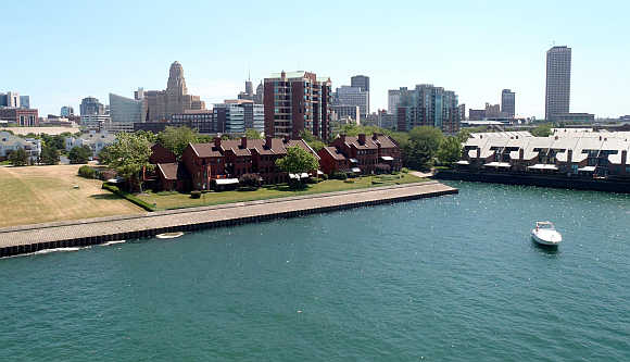 View of downtown Buffalo, New York.
