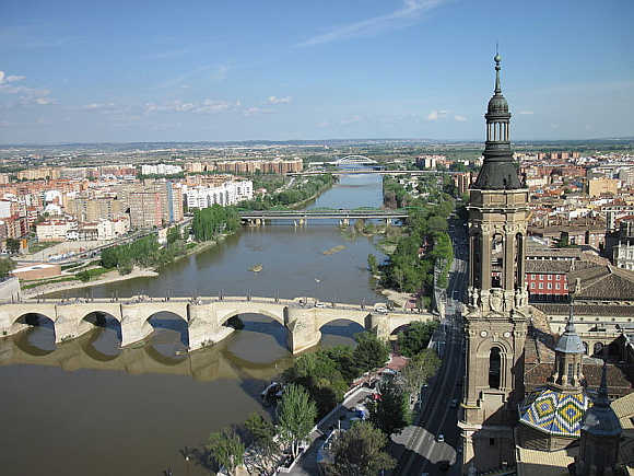 A view of Zaragoza.