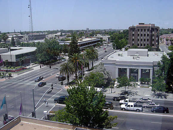 A view of Bakersfield, California.