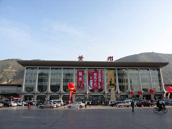 Railway station in Lanzhou, China.