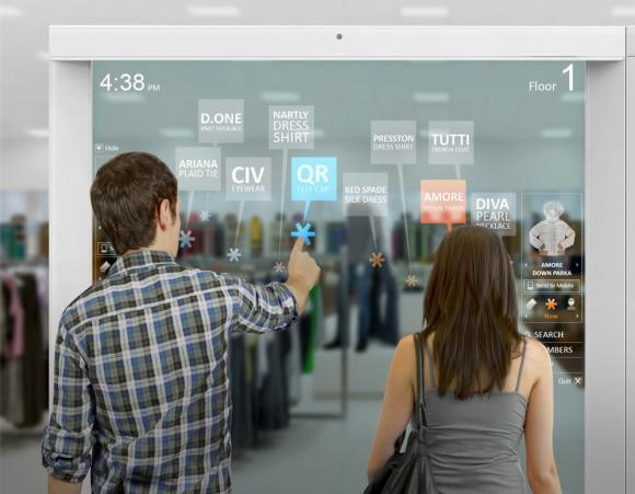 Digital signage for better shopping experience that Intel developed and Frog designed.
