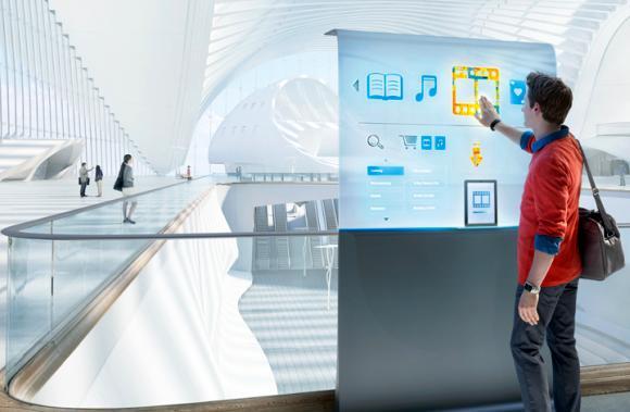 Interactive retail displays Intel has developed.