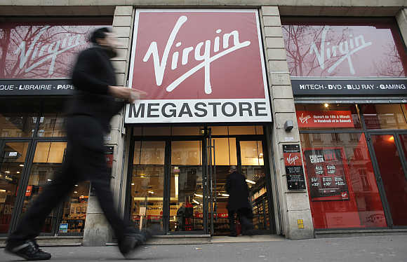 A Virgin Megastore in Paris.