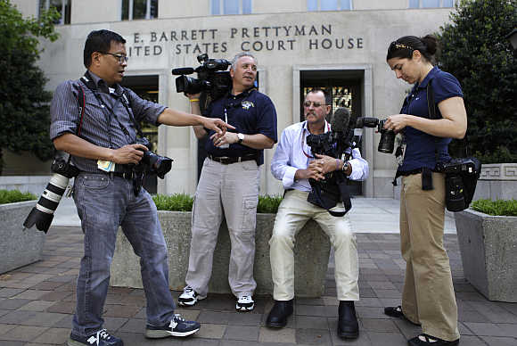 News photographers in Washington, DC.