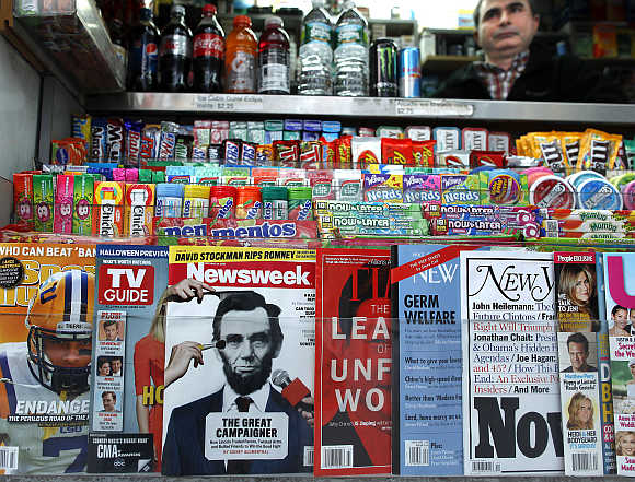 A newsstand in New York.