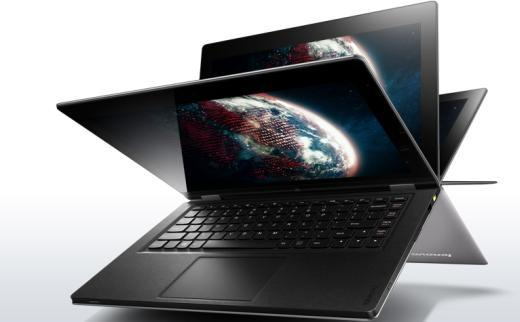 Lenovo IdeaPad Yoga screen flips a full 360 degrees into four modes that make it easy to create, share, or consume content.