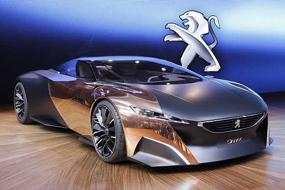 Peugeot's Onyx concep-car in Paris.