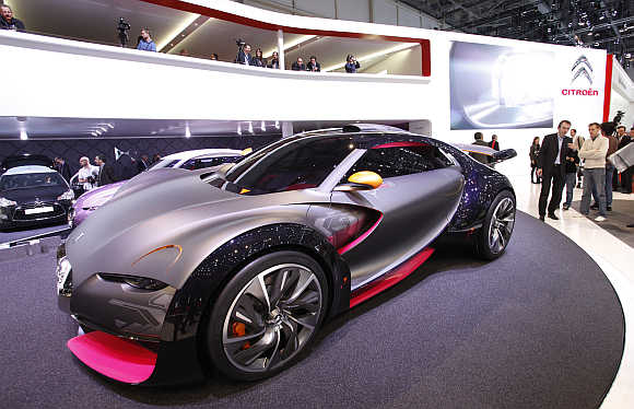 Citroen Survolt concept car in Geneva.