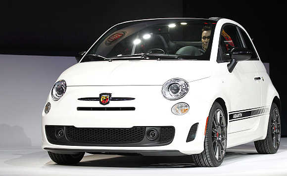 Fiat 500 Abarth Cabrio 2013 in Los Angeles.