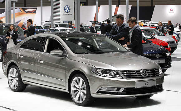 Volkswagen CC in Leipzig, Germany.