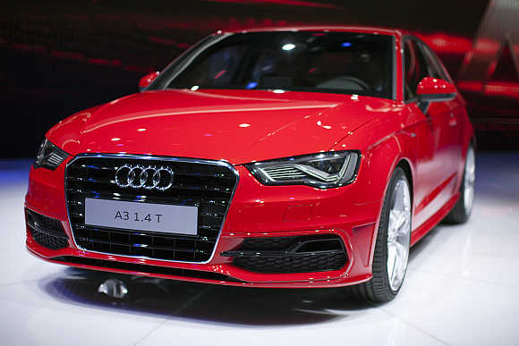 Audi A3 in Geneva.