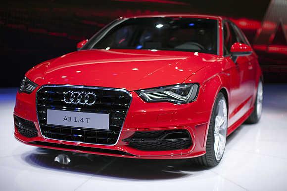 Audi A3 in Geneva.