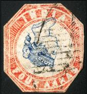 Misprinted Indian stamp