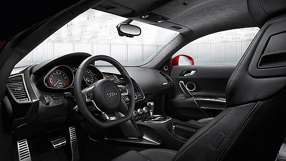 Interior of Audi R8 coupe.