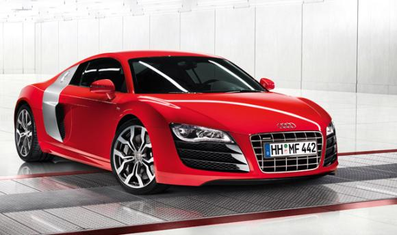 Audi R8 coupe.