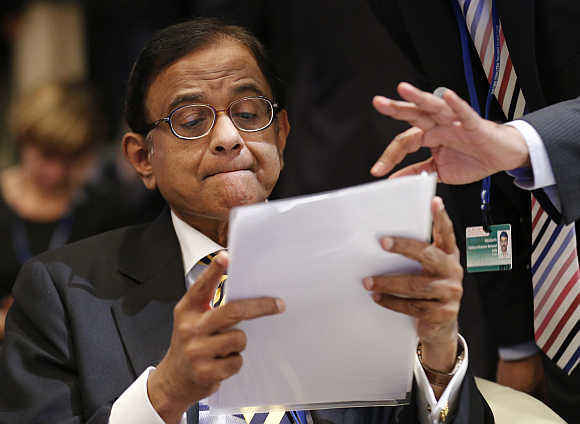 Finance Minister Palaniappan Chidambaram in Tokyo.