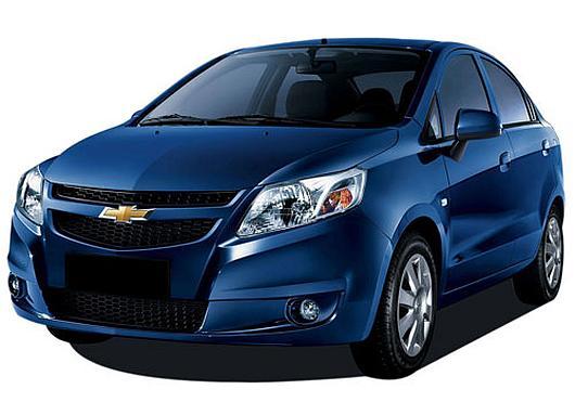 Chevrolet Sail sedan.