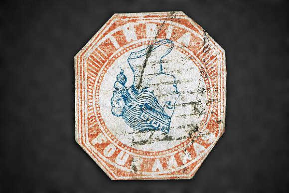 1854 4a Red and Blue was sold for $35,000.