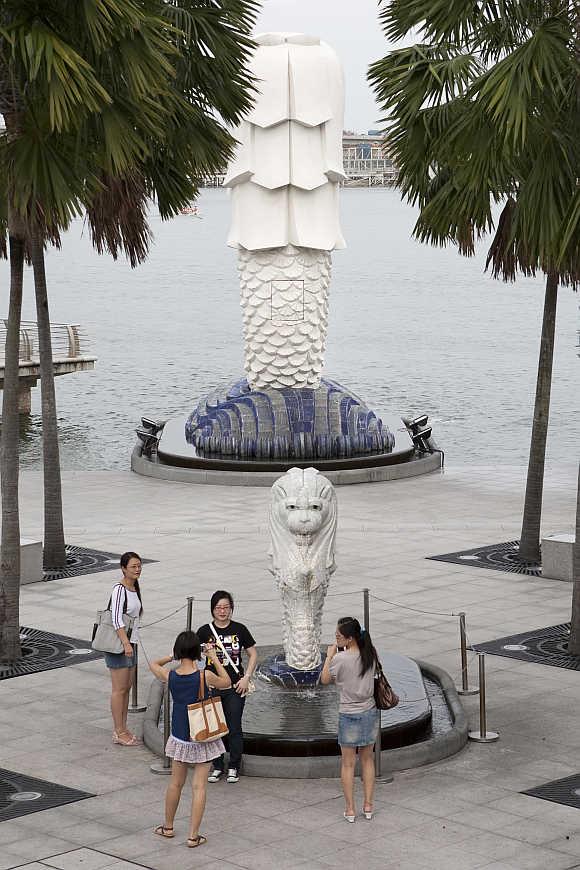Merlion Park in Singapore.