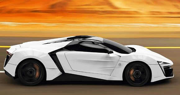 LykanHypersport's LED lights are diamond-encrusted.