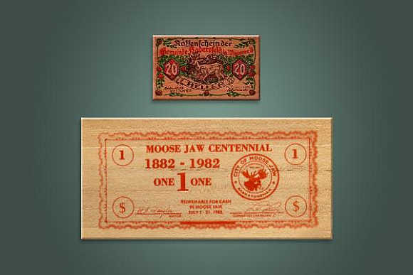 Wooden bills were one of the ingenious ways Germans devised to rebuild their economy.