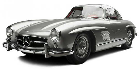1955 Mercedes-Benz 300SL Gullwing Coupe went for $2.04 million.