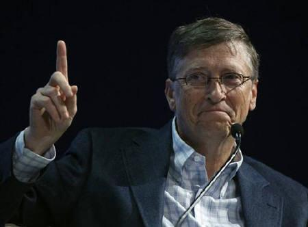 This file photograph shows Bill Gates attending a session at the World Economic Forum in Davos.
