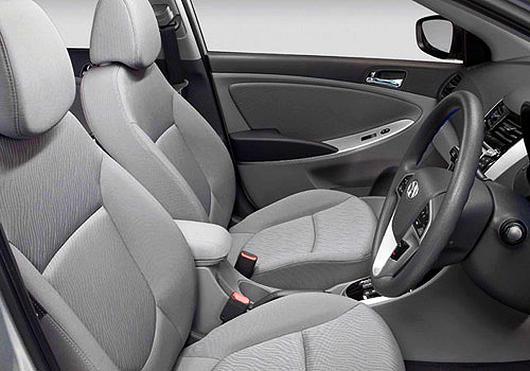 Interior of Hyundai Verna.