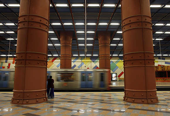 A Lisbon's subway station.