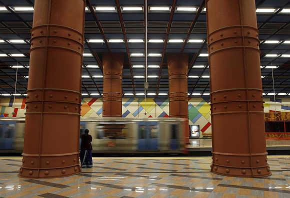A Lisbon's subway station.