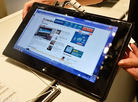 Tablets touched by Windows 8