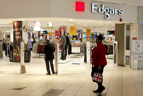 An outlet of Edgars, a South African fashion retailer, at a shopping mall south of Johannesburg.
