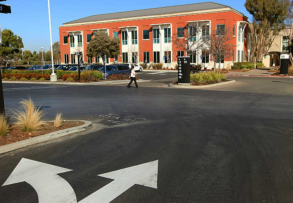New home of Facebook is seen in Menlo Park, California.
