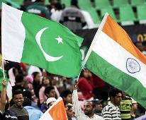 Pakistani and Indian flags