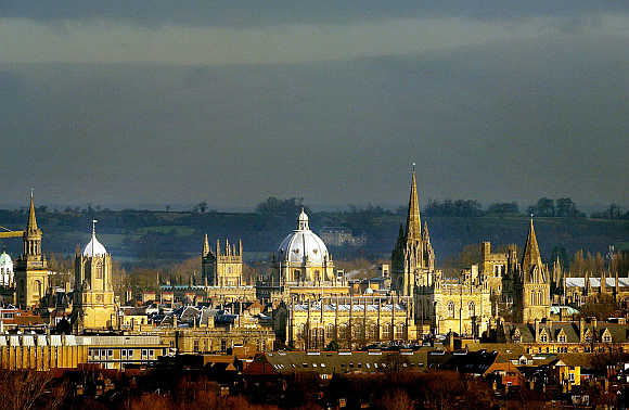 A view of Oxford University.