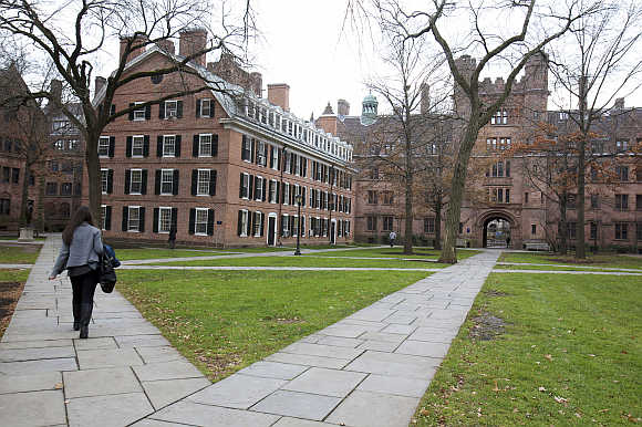 Old Campus at Yale University in New Haven, Connecticut; For representational purposes only
