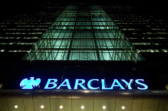 Barclays headquarters in the Canary Wharf business district of east London.