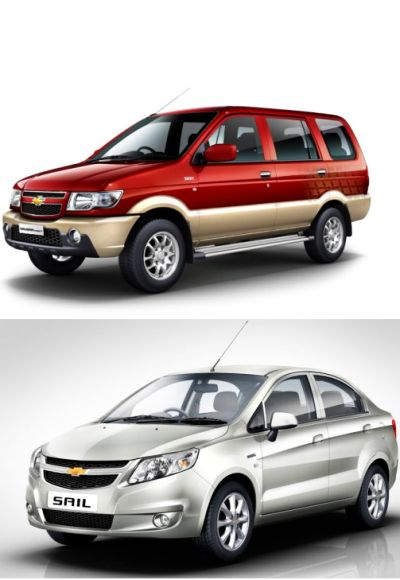 Chevrolet Tavera (above) and Chevrolet Sail.