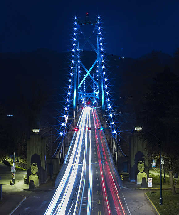Lions Gate Bridge in Vancouver, British Columbia, Canada.