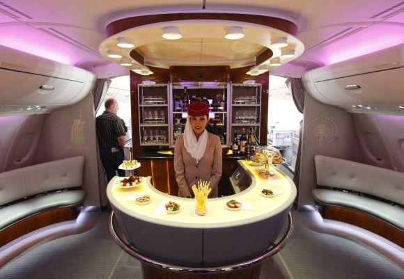 Emirates A380's first class.