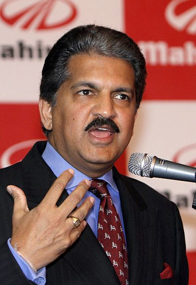 Anand G. Mahindra, vice chairman and managing director of Mahindra & Mahindra.
