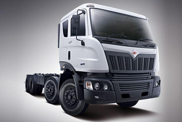 Mahindra truck.
